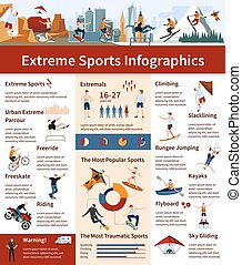 Extreme Sports Infographics - Flat design infographics...