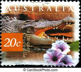 AUSTRALIA - CIRCA 1997: A stamp pri