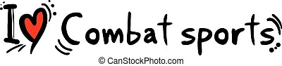 Combat sports love - Creative design of Combat sports love
