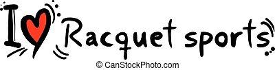 Racquet sports love - Creative design of Racquet sports love