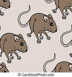 rat seamless - Creative design of rat seamless