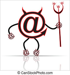 Internet symbol - Illustration internet symbol on a white...