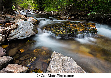 Big Cottonwood River - This photo was taken of the Big...