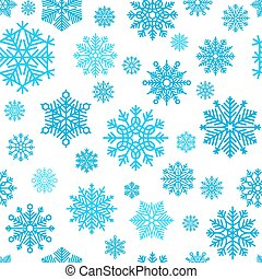 Winter snowflake pattern. Vector snow and snowflakes...