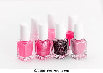 Nail polish - Photo of beautiful colorful nail polish with...
