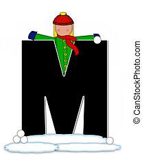 Alphabet Children Snow Fight M