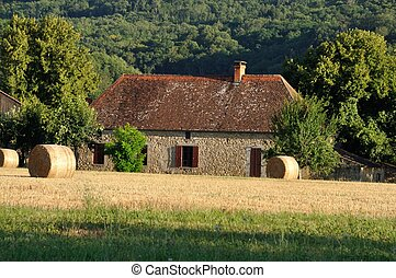Rural landscape in Dordogne