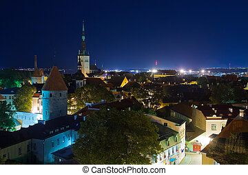 Night Tallinn panorama