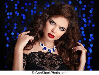 Beautiful Sexy Brunette Woman - Hair. Beautiful Sexy...
