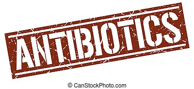 antibiotics square grunge stamp