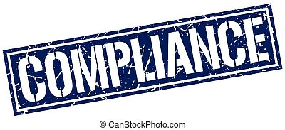 compliance square grunge stamp