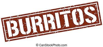 burritos square grunge stamp