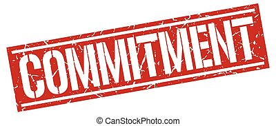 commitment square grunge stamp