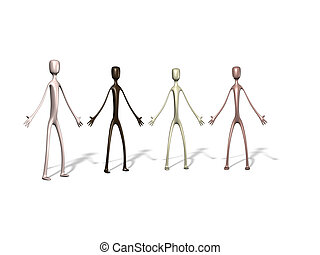 diversity - A group of people of 4 different color
