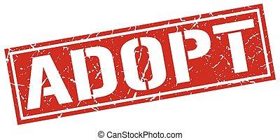 adopt square grunge stamp