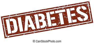 diabetes square grunge stamp