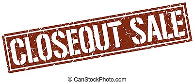 closeout sale square grunge stamp