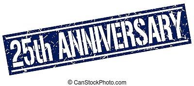 25th anniversary square grunge stamp