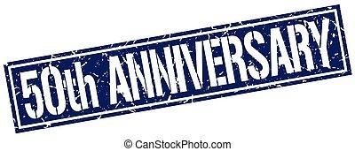 50th anniversary square grunge stamp