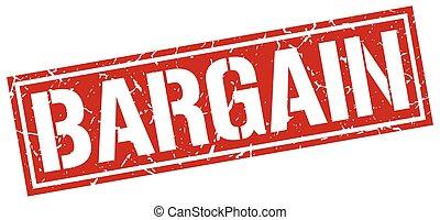 bargain square grunge stamp