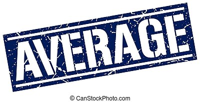 average square grunge stamp