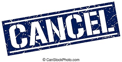 cancel square grunge stamp