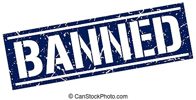 banned square grunge stamp