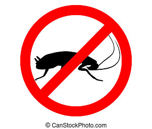 Cockroach prohibition sign