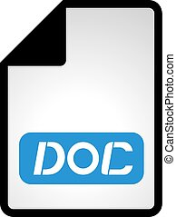 doc file icon - Creative design of doc file icon