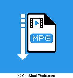 download file mpg symbol - Creative design of download file...