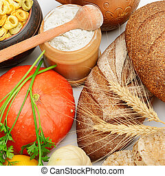 grain products and vegetables