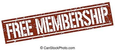 free membership square grunge stamp