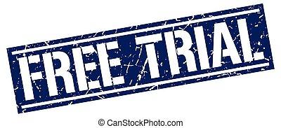 free trial square grunge stamp