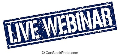 live webinar square grunge stamp