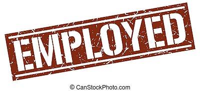 employed square grunge stamp