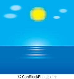 Ocean landscape, Vector