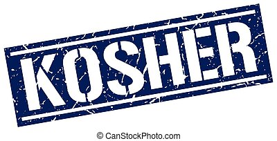 kosher square grunge stamp