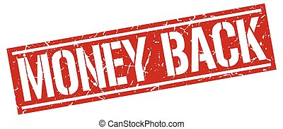 money back square grunge stamp