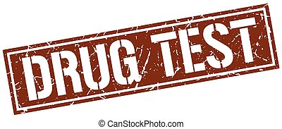 drug test square grunge stamp