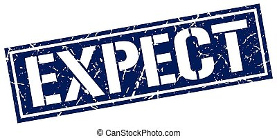 expect square grunge stamp