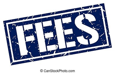 fees square grunge stamp