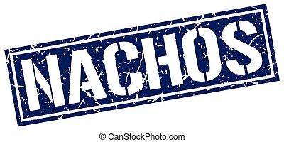 nachos square grunge stamp
