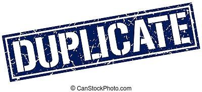 duplicate square grunge stamp