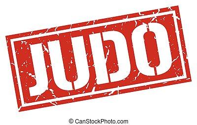 judo square grunge stamp