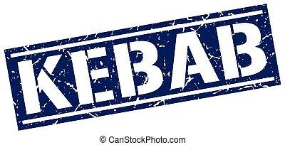 kebab square grunge stamp