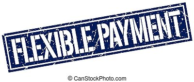 flexible payment square grunge stamp