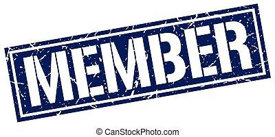 member square grunge stamp