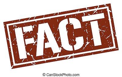 fact square grunge stamp