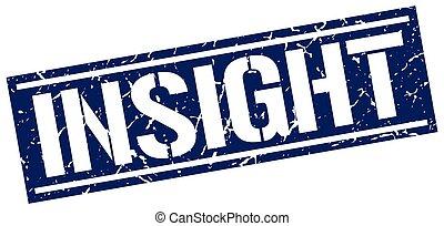 insight square grunge stamp