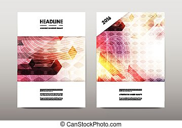 Vector Clipart of Abstract vector layout background set. For art ...